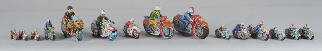 Lot Of 15: Japanese Motorcycle Toys