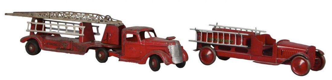 Lot Of 2: Pressed Steel Fire Trucks