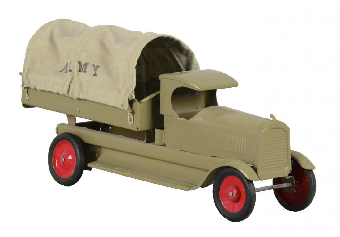 Pressed Steel Turner Toys Army Transport Truck