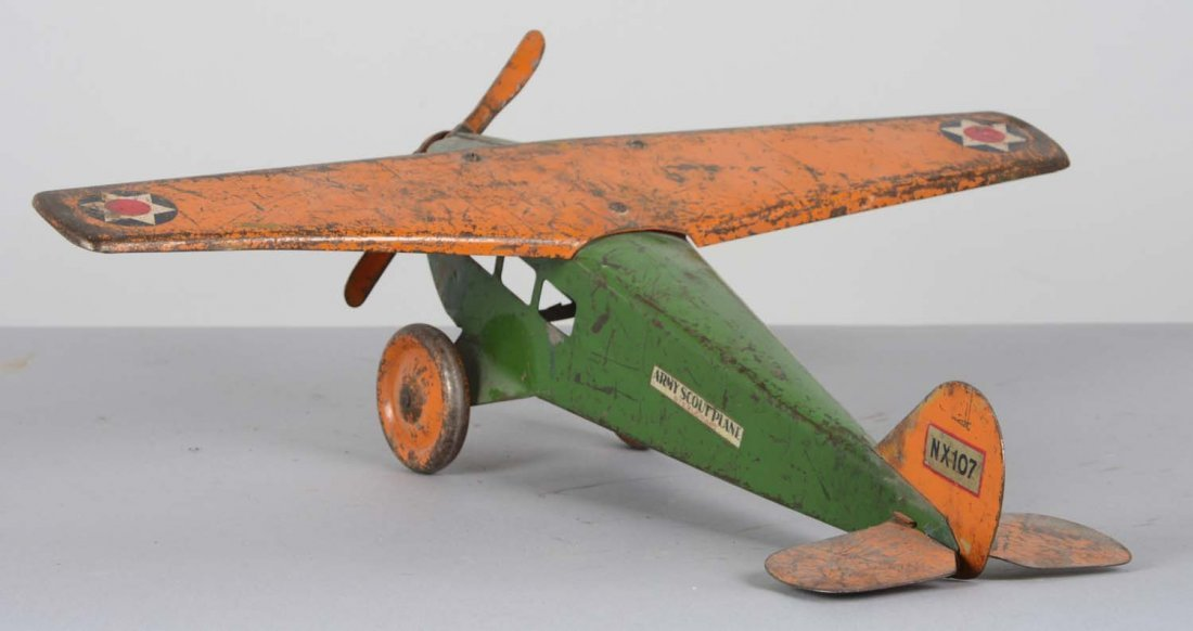 Steel Craft Pressed Steel Army Scout Plane - 3