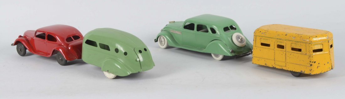 Lot Of 4: Pressed Steel Cars And Trailers - 2