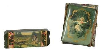 Lot Of 2 Decorative Box And Photo Album