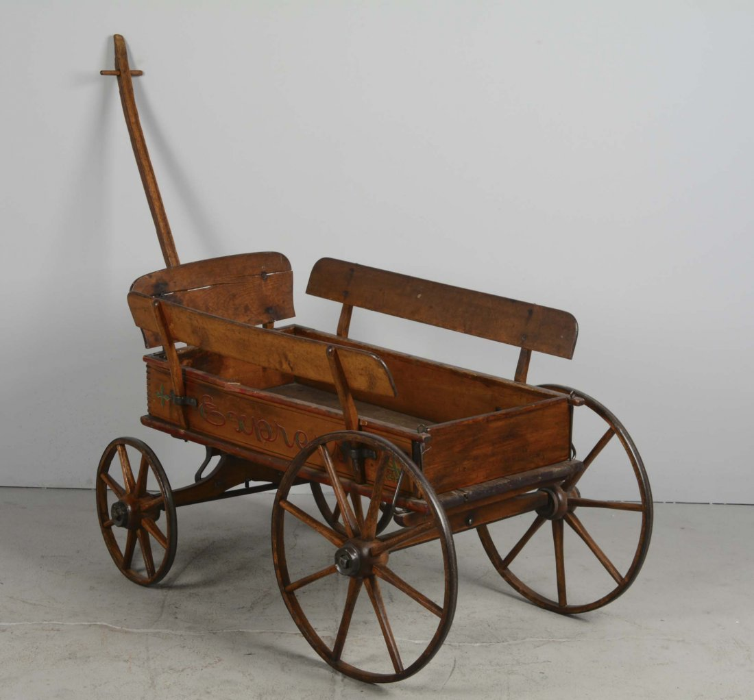 Antique Wooden Wagon - 2