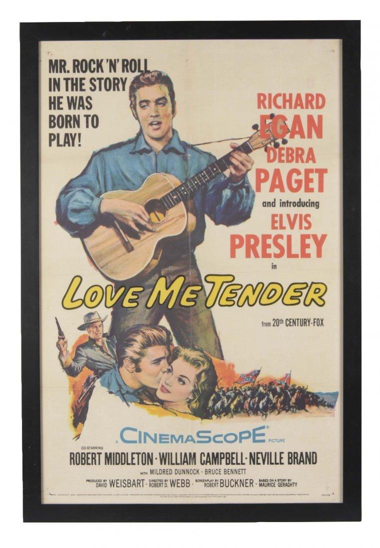 "Elvis Presley ""Love Me Tender"" Movie Poster In Frame"