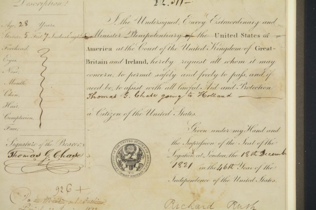 1821 United States Of America Passport - 3