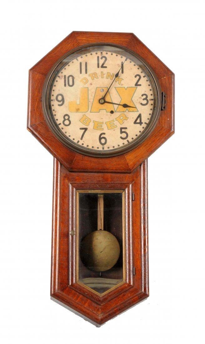 Early Jax Beer Advertising Clock.