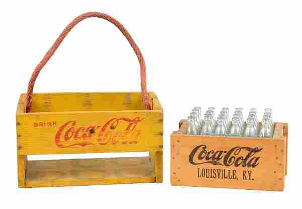 Lot of 2: Wooden Coca-Cola Carriers.