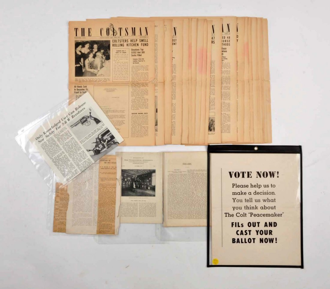 Lot of 6: Colt Related Documents.