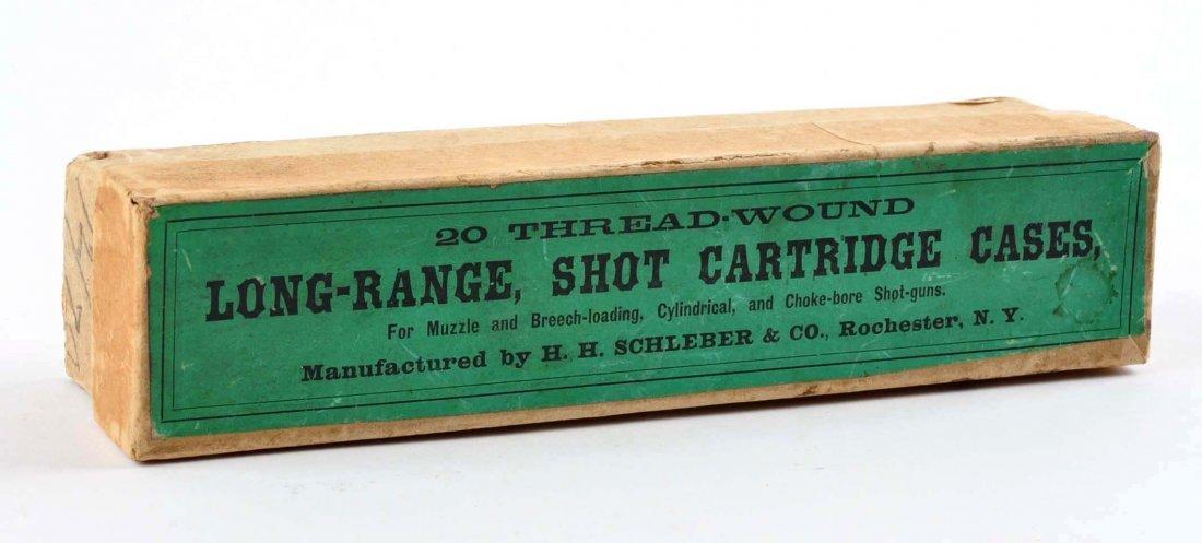 12 GAUGE LONG RANGE SHOT CARTRIDGE CASES.