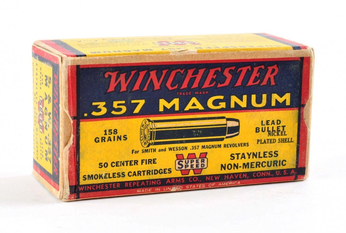 .357 MAGNUM, 1ST WINCHESTER Ammo/Box.