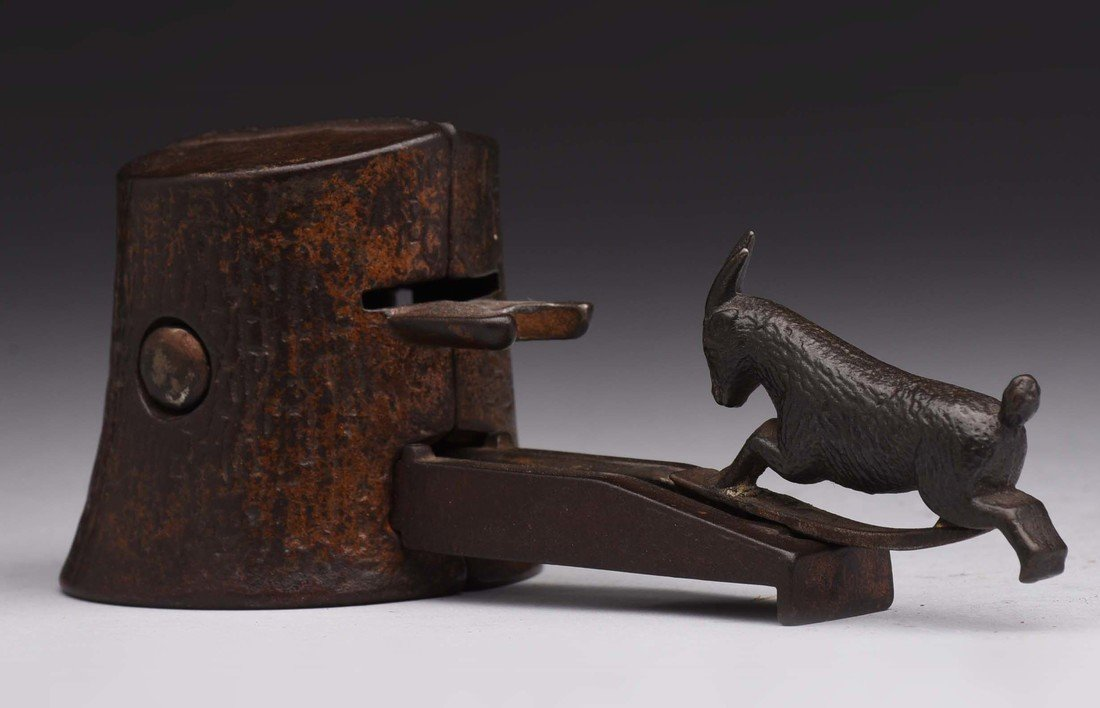 Judd Butting Goat Cast Iron Meachnical Bank.