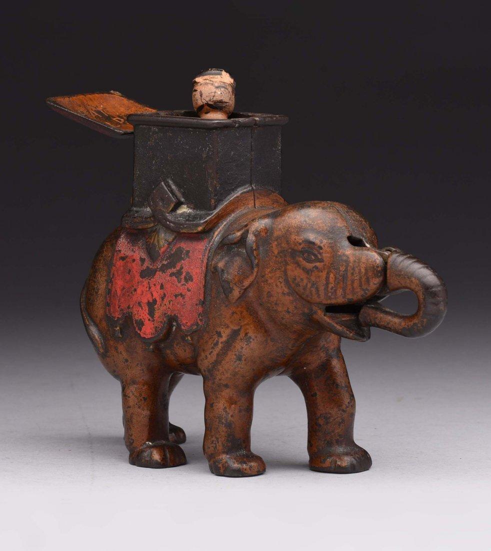 Enterprise Mfg. Elephant C.I. Mechanical Bank.