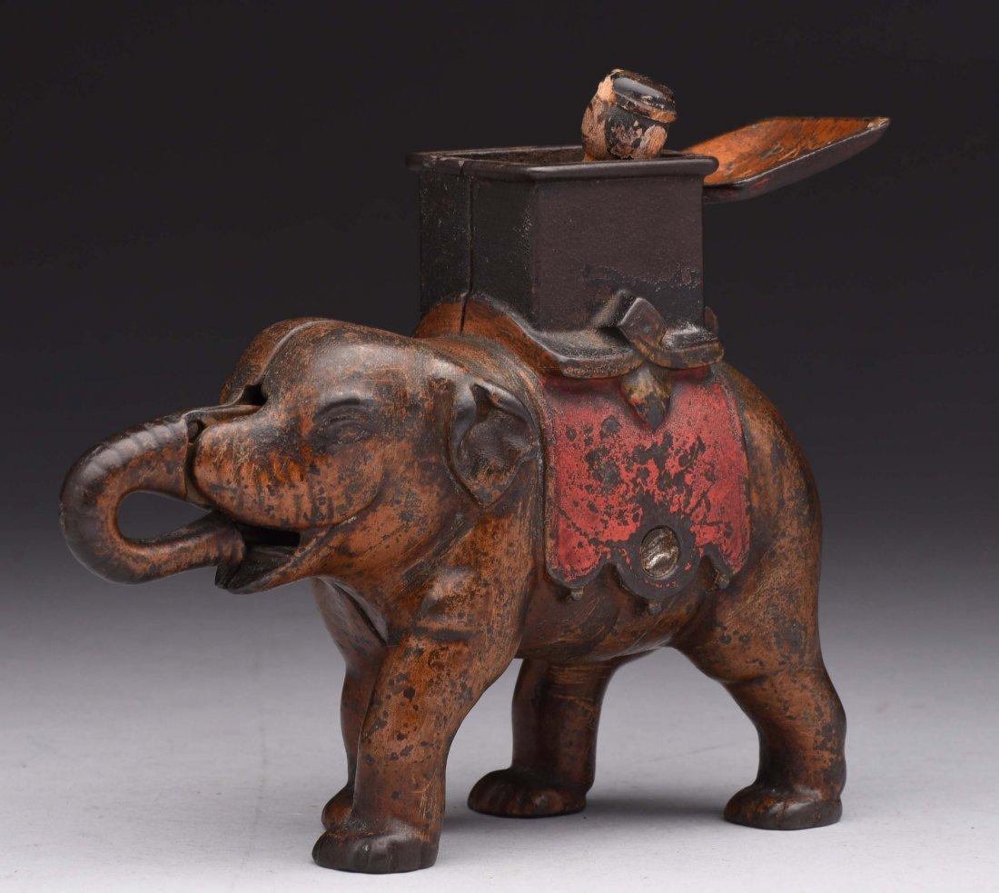 Enterprise Mfg. Elephant C.I. Mechanical Bank. - 2