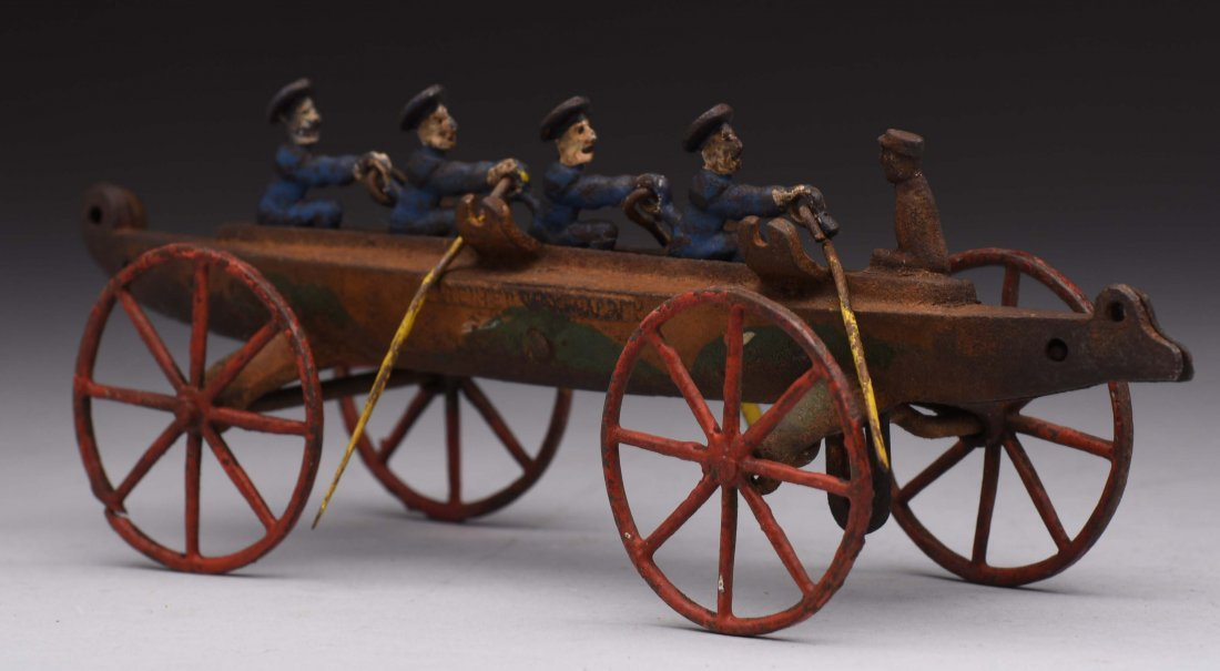 Cast Iron Rowing Boat. - 2