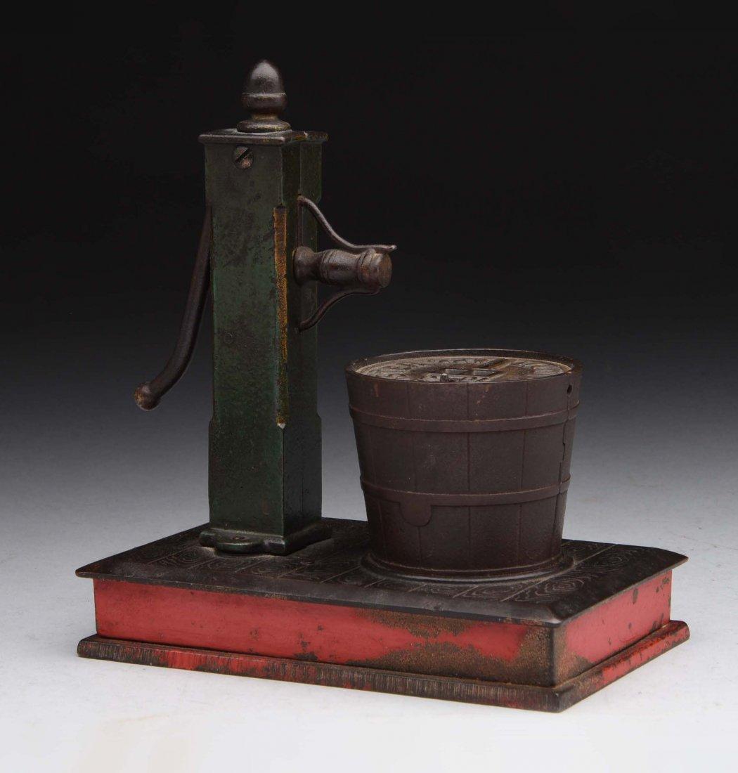 Cast Iron Pump & Bucket Mechanical Bank.