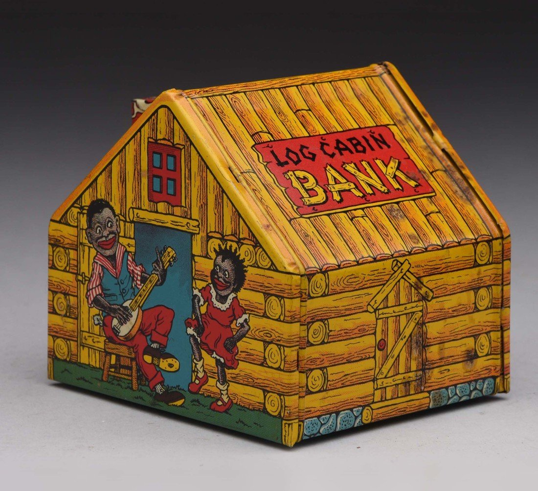 Tin J. Chein & Co. Log Cabin Bank.