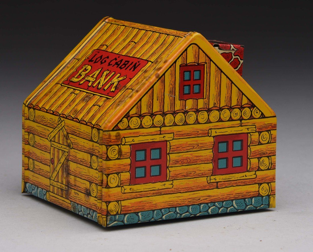 Tin J. Chein & Co. Log Cabin Bank. - 3