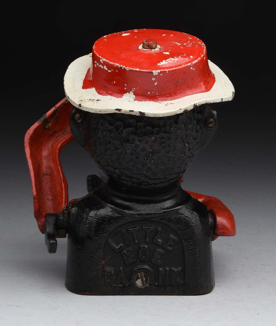 Little Moe Cast Iron Mechanical Bank. - 2