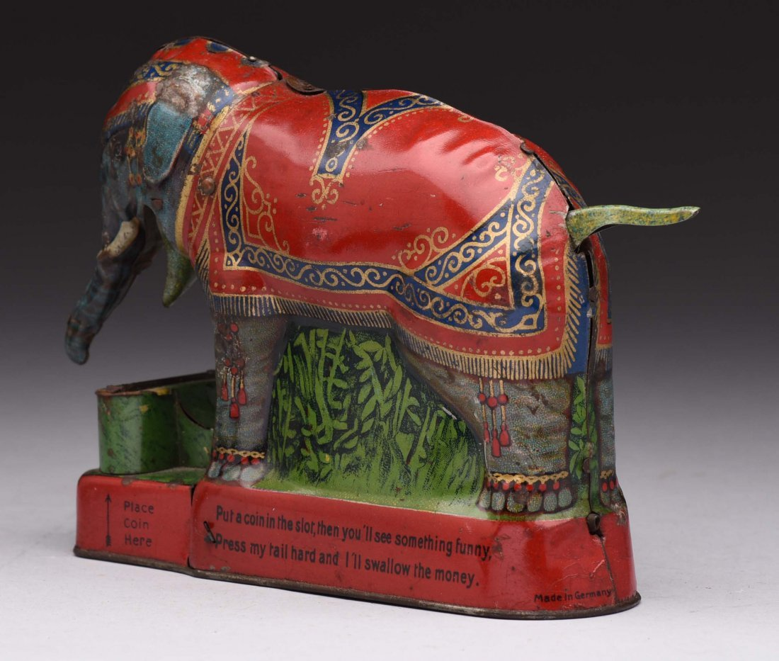 Tin Royal Trick Elephant Mechanical Bank. - 2
