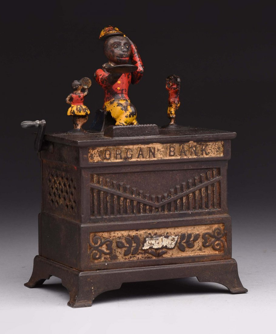 Kyser & Rex C.I. Organ Mechanical Bank.