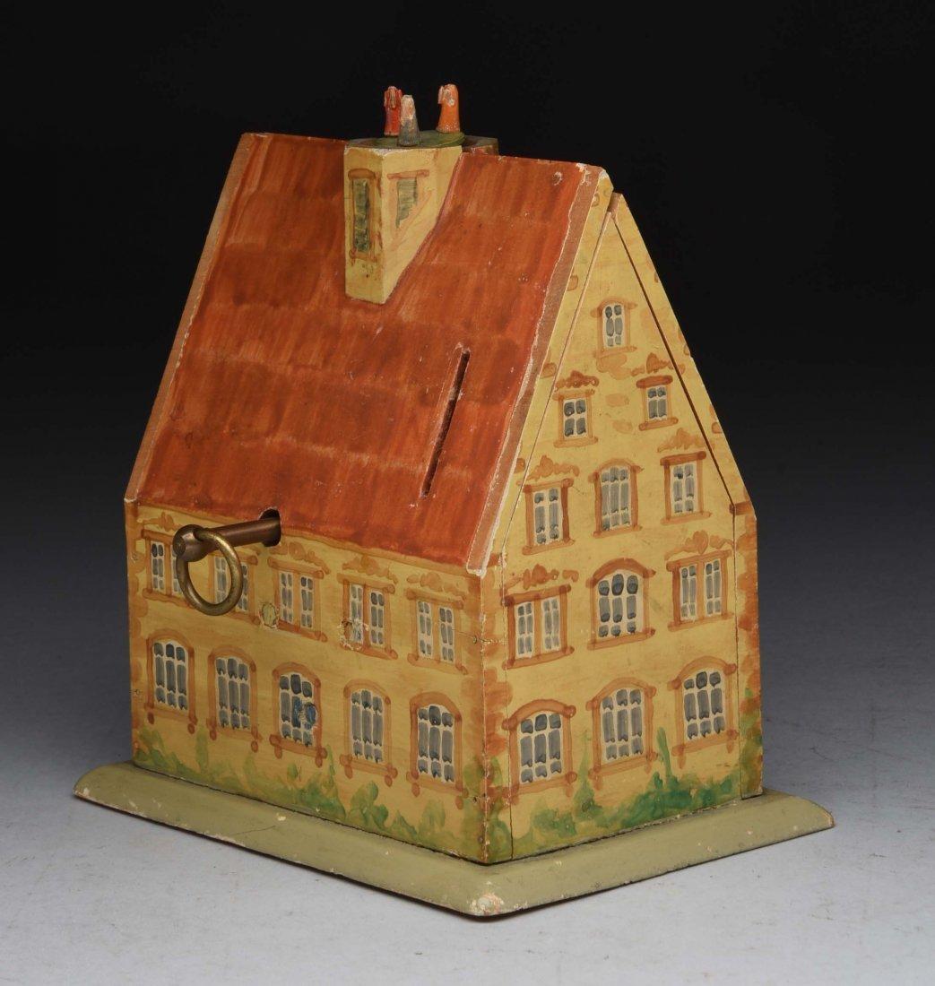 Wooden Musical House Mechanial Bank. - 2
