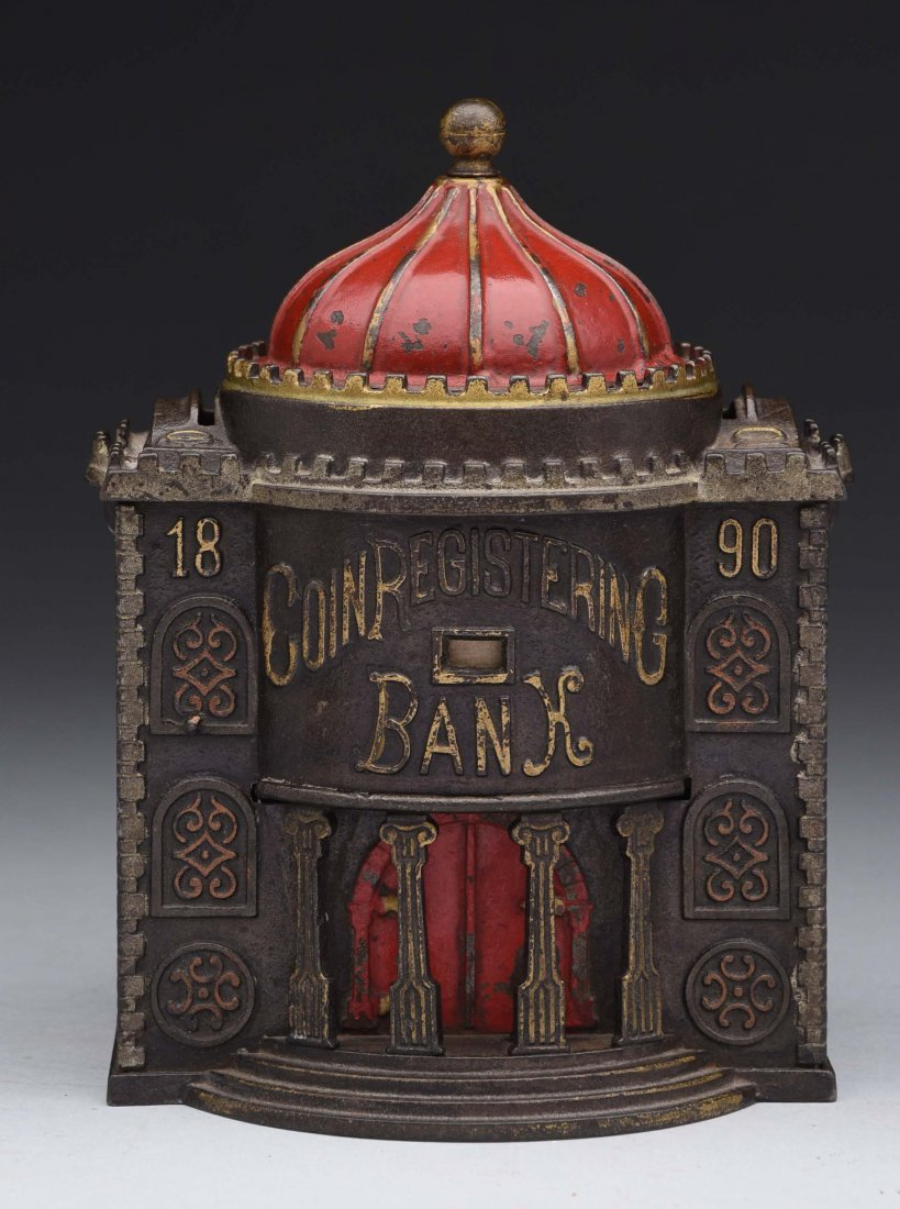 Kyser & Rex Coin Registering Cast Iron Bank.