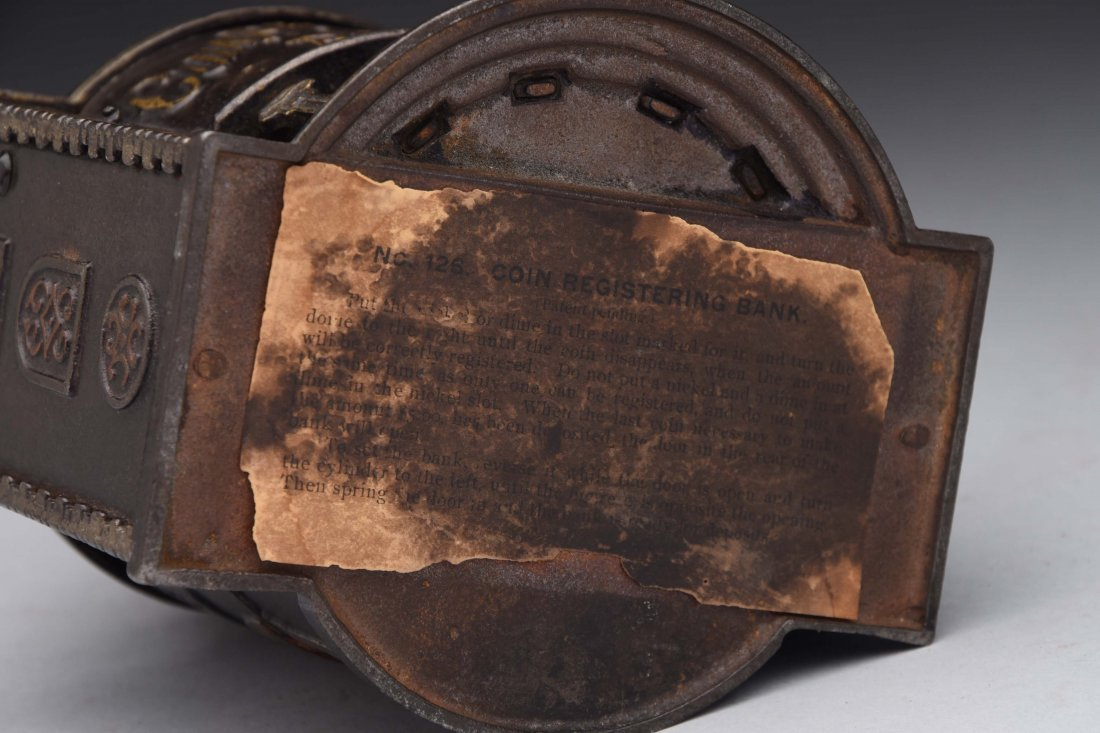 Kyser & Rex Coin Registering Cast Iron Bank. - 3