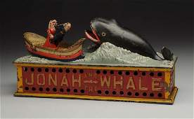 Shepard Hardware Jonah  Whale Mechanical Bank