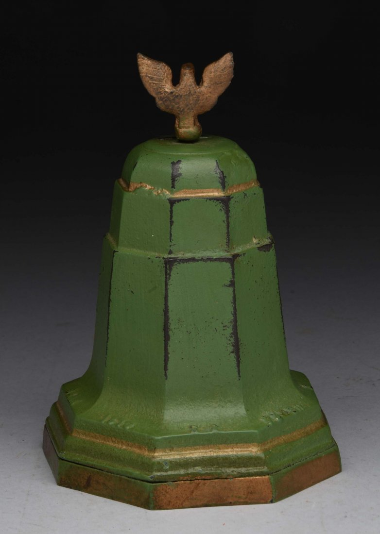 Cast Iron Musical Liberty Bell Still Bank. - 2