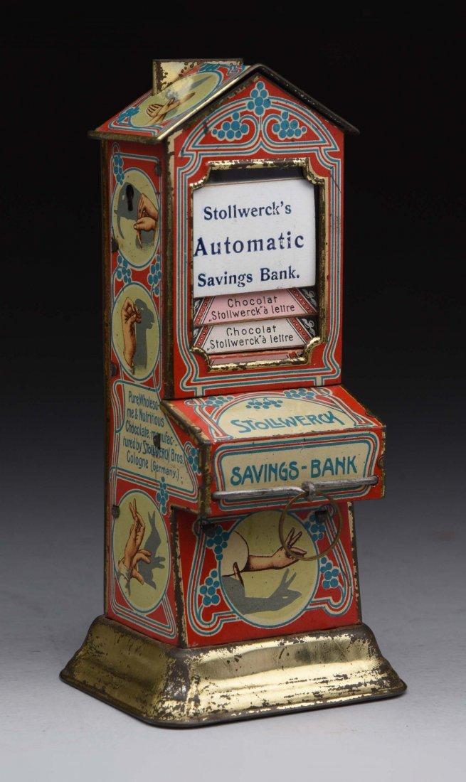 "Tin Stollwerck ""Hand Shadows"" Vending Bank."