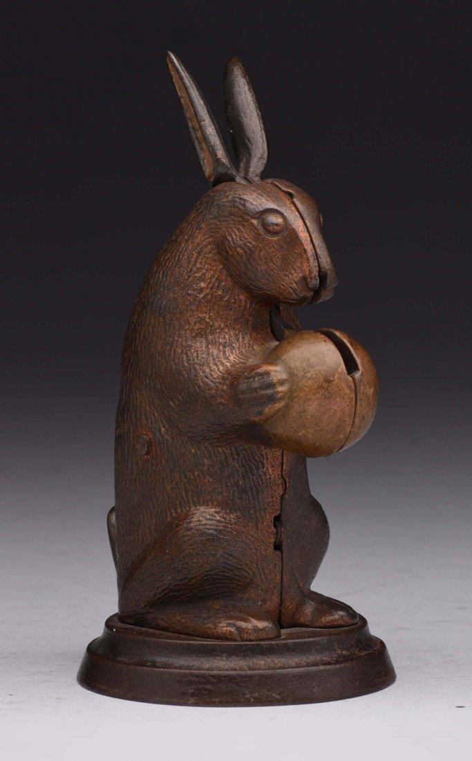 Lockwood Mfg. Standing Rabbit C.I. Mechanical Bank