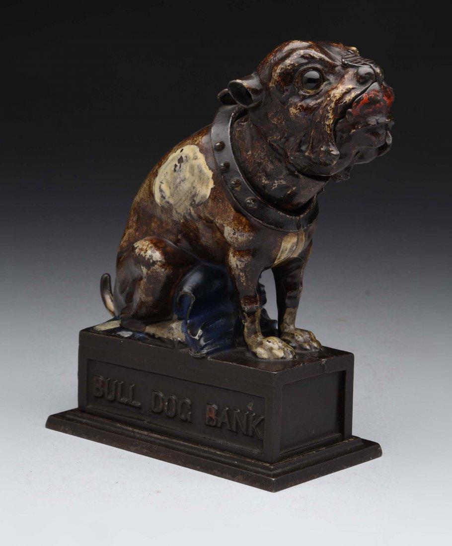Bulldog Cast Iron Mechanical Bank.