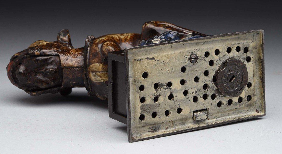Bulldog Cast Iron Mechanical Bank. - 3