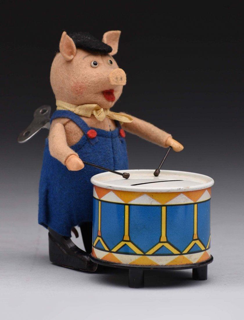Schuco Wind Up Three Pigs Drummer Bank