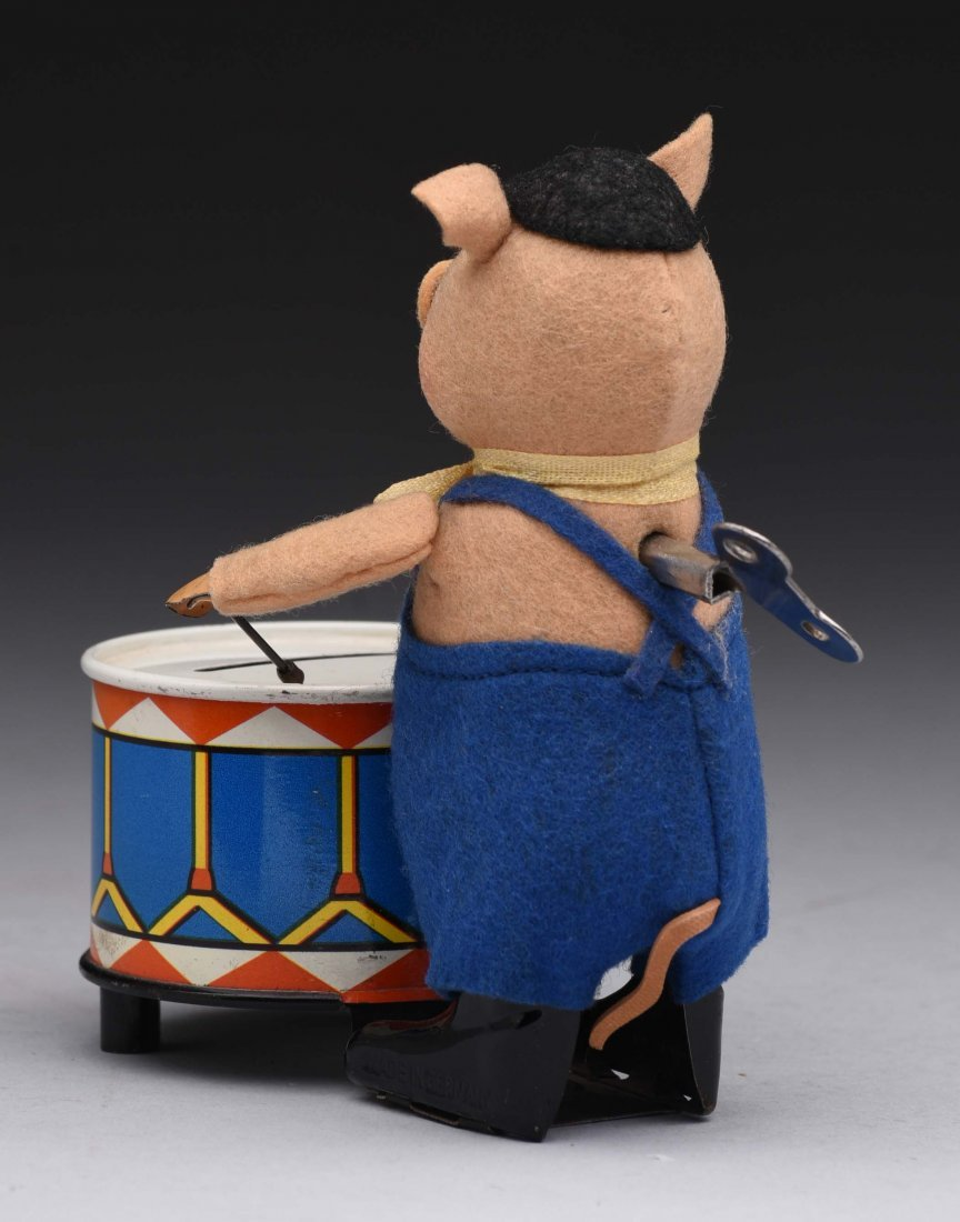 Schuco Wind Up Three Pigs Drummer Bank - 2