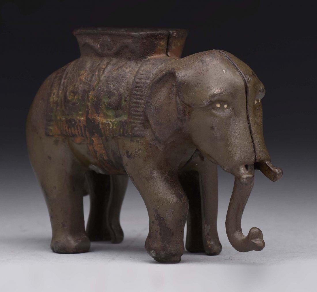 A.C. Williams Small C.I. Elephant Bank.