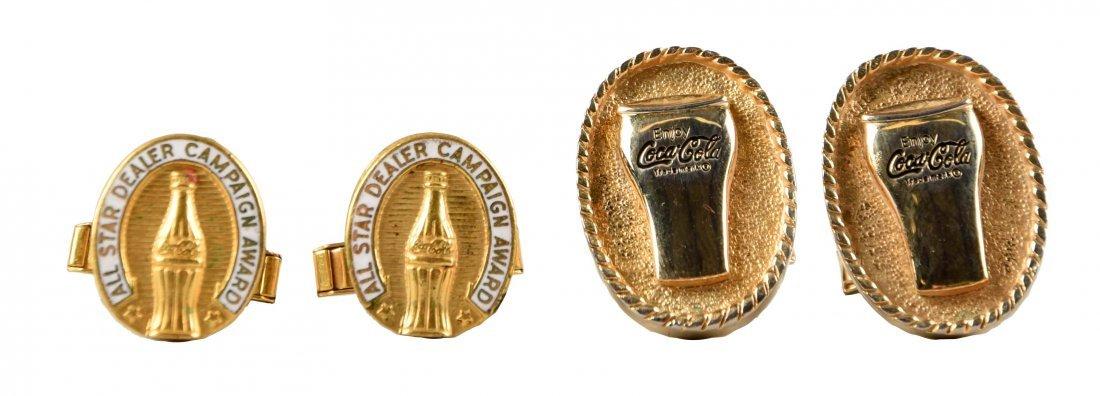 Set of 2: Coca - Cola Cuff Links.