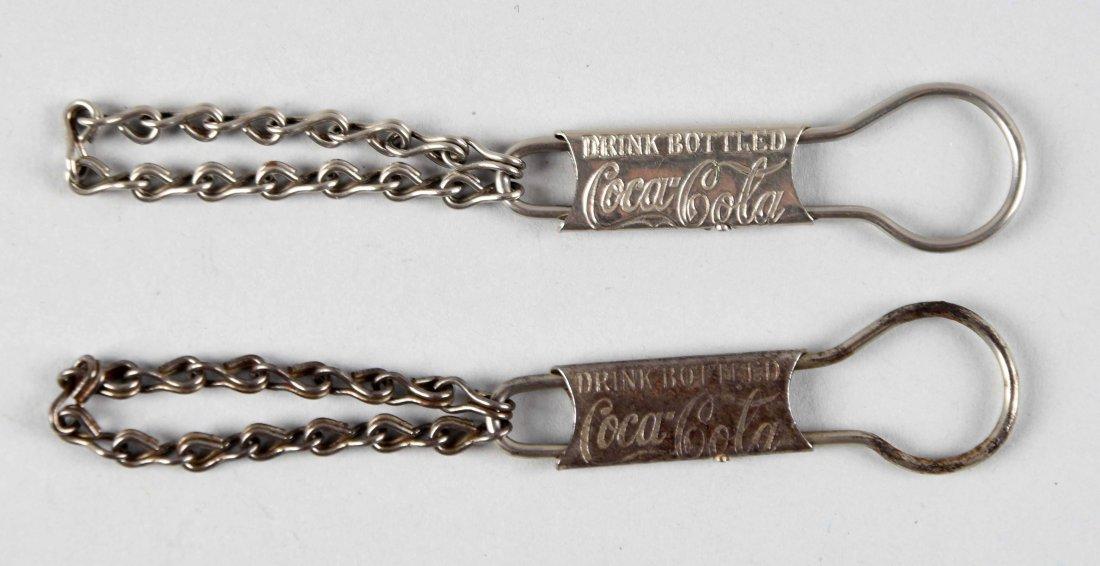 Lot of 2: 1908 Coca - Cola Pull-Apart Key Chains.