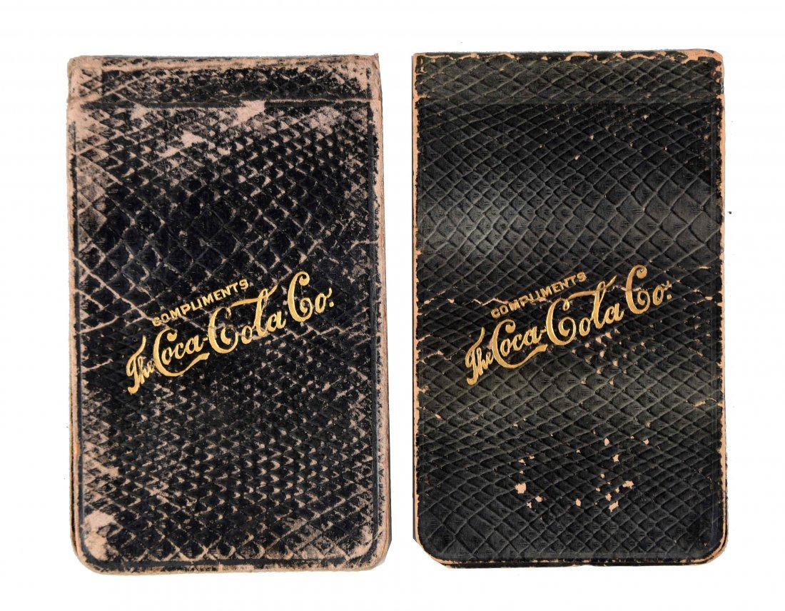 Pair of 1908 Coca - Cola Notepads.