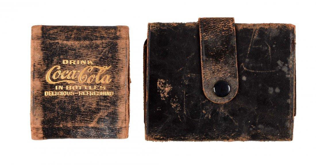 Lot of 2: Coca - Cola Coin Purse & Wallet.