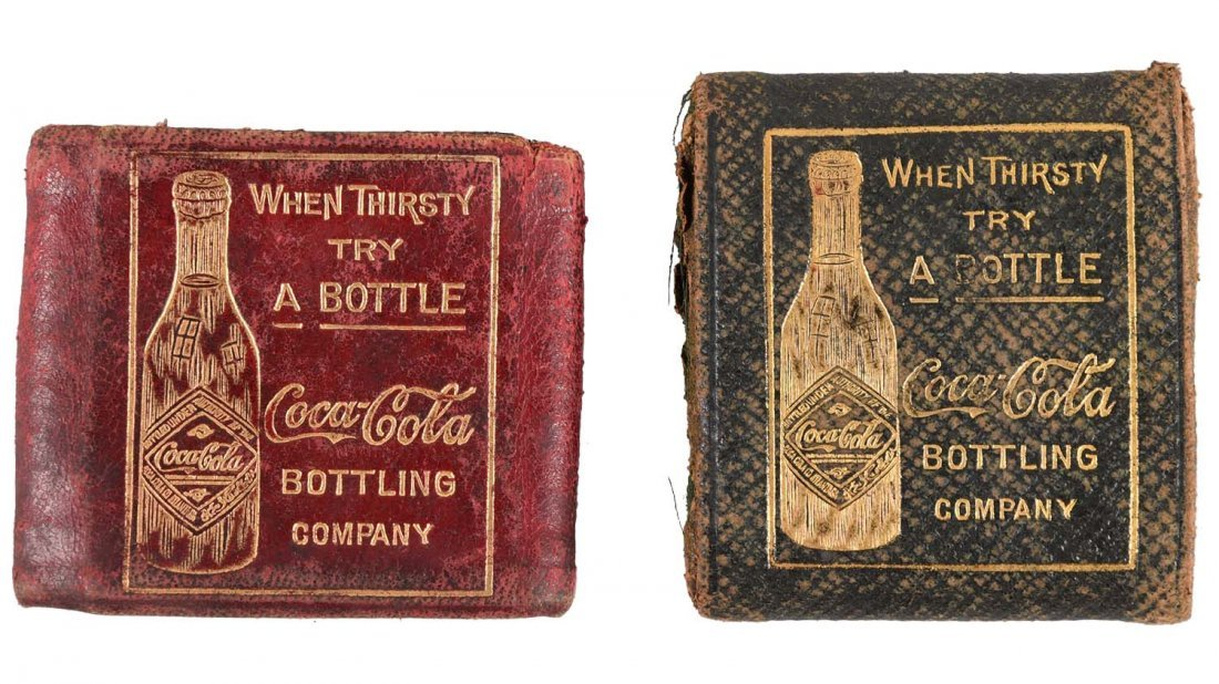 Lot Of 2: Early Leather Coca-Cola Coin Purses.