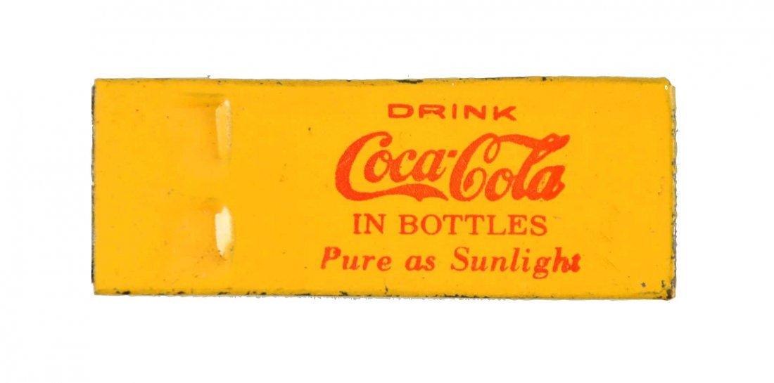 Early Coca - Cola Tin Whistle.