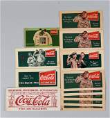 Lot of 12 Assorted 1930s Coca  Cola Ink Blotters