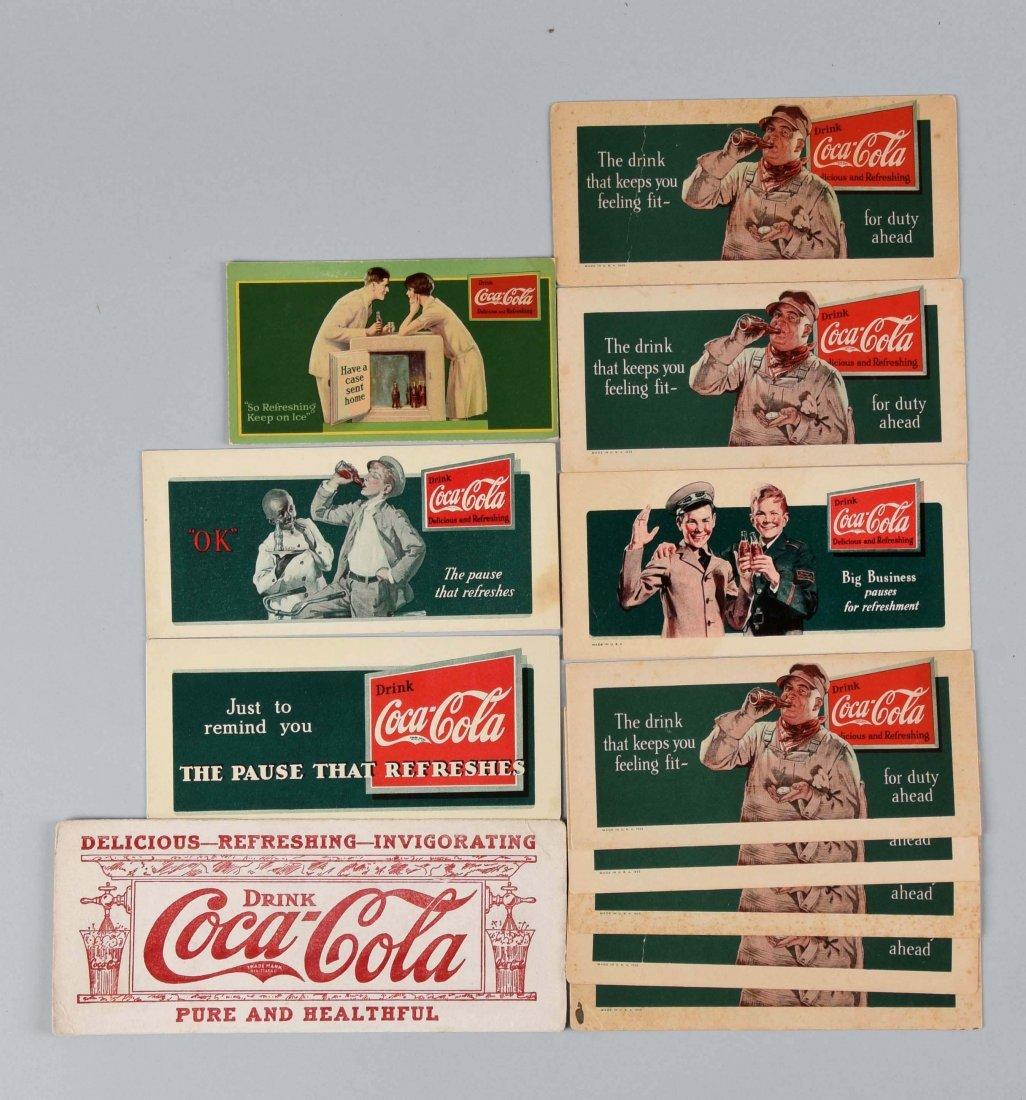 Lot of 12: Assorted 1930's Coca - Cola Ink Blotters.