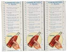 Lot of 3 Coca  Cola Advertising Blotters with Rulers