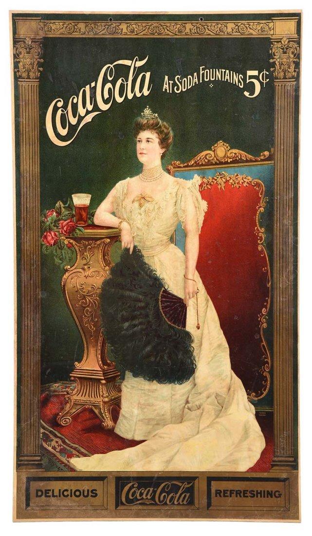 1905 Lillian Nordica Cardboard Sign.