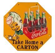 1950s CocaCola Sprite Boy Hexagon Shaped Sign