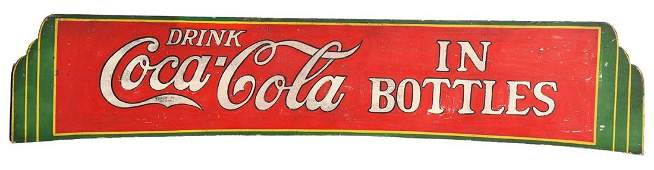 Early Wooden Coca-Cola Truck Sign.