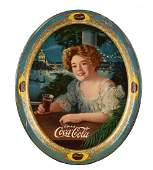 1909 Coca-Cola Large Oval Serving Tray.