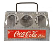 Coca-Cola Metal Six Pack Bottle Carrier.